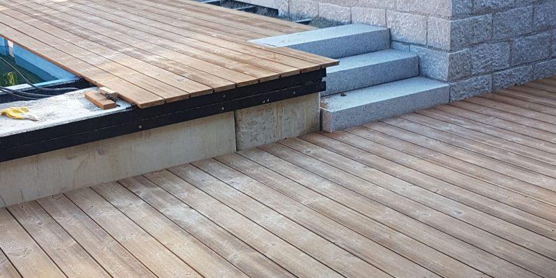 Holzterrasse aus Thermo Kiefer